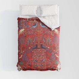 Tree of Life Beautiful Flower Garden Persian Khorassan Rug Print Comforters