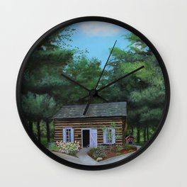 Summer at the Cabin Wall Clock
