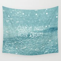 custom Wall Tapestries featuring Custom Dreams by Alice Gosling
