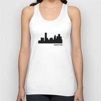 houston Tank Tops featuring Houston, Texas by Fabian Bross