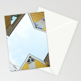Yellow cube houses in Rotterdam Stationery Cards