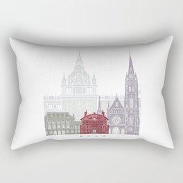 Graz skyline poster Rectangular Pillow