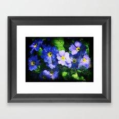 bluest ones Framed Art Print
