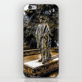 Stevie Ray Vaughan Statue - Austin, Texas - Graphic 3 iPhone Skin