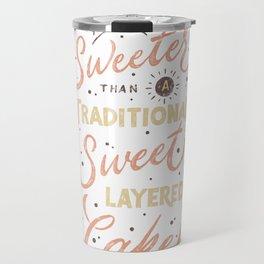Traditional Sweet Layered Cake Travel Mug