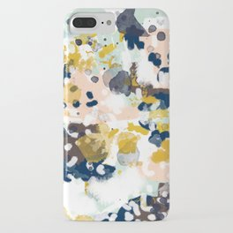 Sloane - Abstract painting in modern fresh colors navy, mint, blush, cream, white, and gold iPhone Case