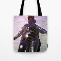 minaj Tote Bags featuring Oooo Drag on by Emily Lomax