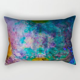 multicolored waves Rectangular Pillow