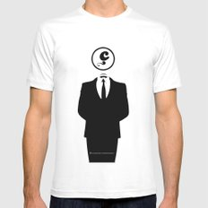 Anonymous / White / Blanc / Les Hameçons Cibles MEDIUM Mens Fitted Tee White