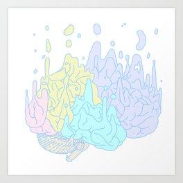 Melting Brain Art Print