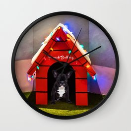 French Bulldog in Lighting House Wall Clock