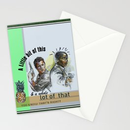 """""""A Little bit of this & a Whole Lot of That"""" - Psych Quotes Stationery Cards"""