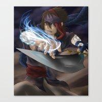 aladdin Canvas Prints featuring Aladdin by Kolshio