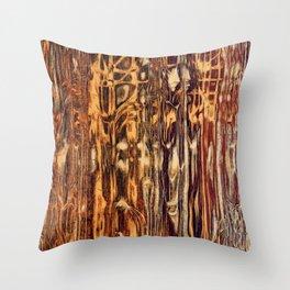 Grunge Wood Throw Pillow