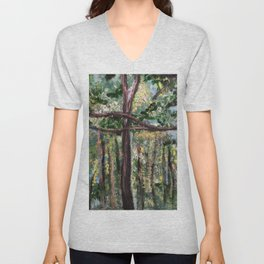 In the Trees Unisex V-Neck