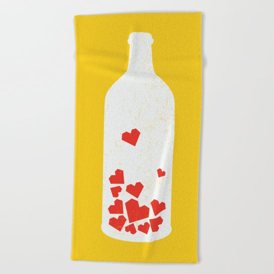 Message in a bottle Beach Towel