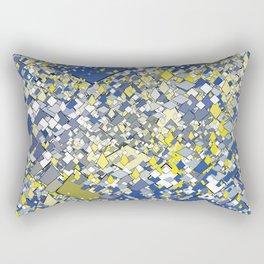 Yellow Blue Grey Rectangular Pillow