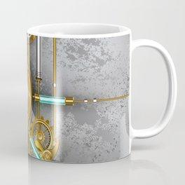 Steampunk Round Banner with Pressure Gauge Coffee Mug