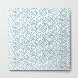 "Turquoise leopard pattern ""Leopold"" Metal Print"