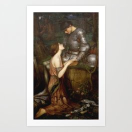 John William Waterhouse - Lamia Art Print
