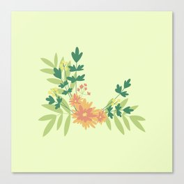 Citrus Floral Canvas Print