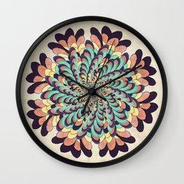 Maple Samaras Flower Mandala Wall Clock
