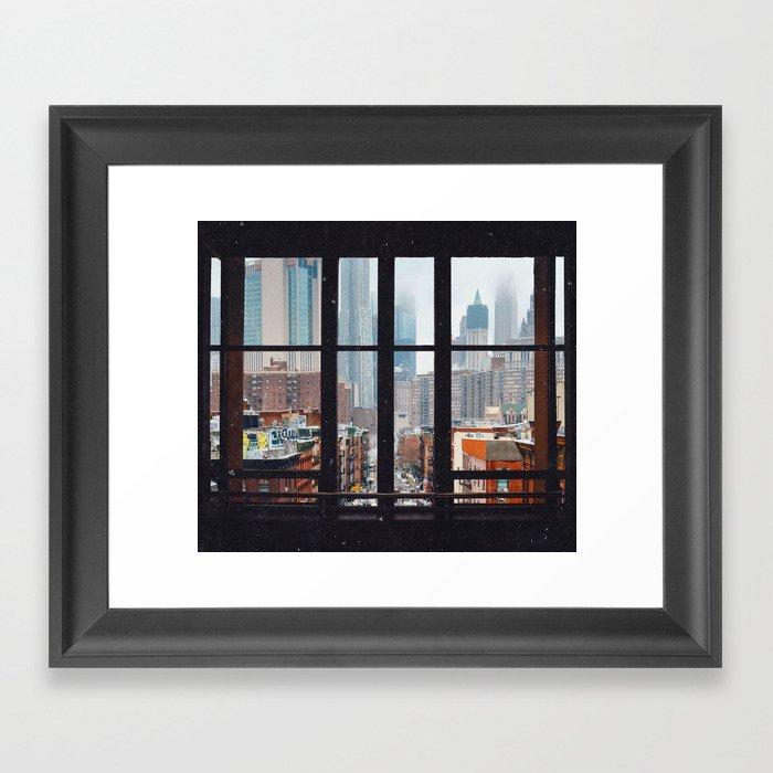 New York City Window Gerahmter Kunstdruck