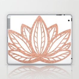 Lotus flower outline tattoo, Rose gold foil boho chic floral design Laptop & iPad Skin