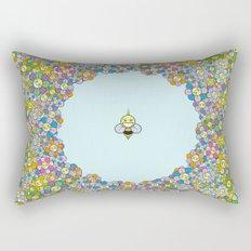 FLOWER POWER BEE Rectangular Pillow
