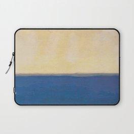 Plain color blue and white art print Laptop Sleeve