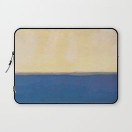 Plain color blue and white art print Laptop Sleeve
