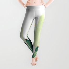 Green cactus Leggings