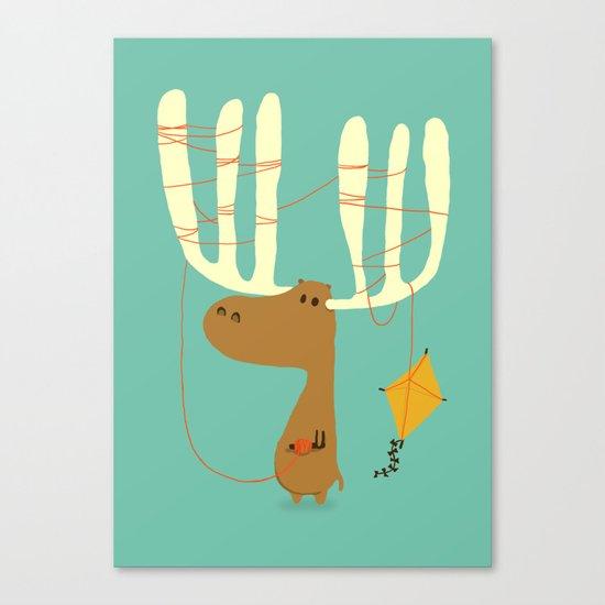A moose ing Canvas Print