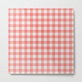 Modern red white classic 80s picnic pattern Metal Print