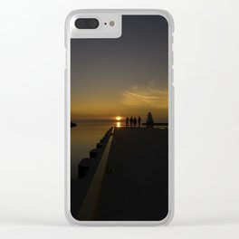 Sunset at the Pier Clear iPhone Case