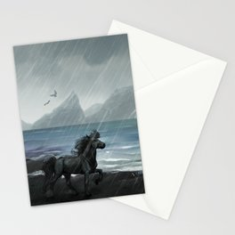 Shores of the black sand Stationery Cards