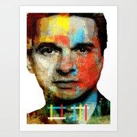 depeche mode Art Prints featuring BARREL OF A GUN (Dave Gahan of Depeche Mode) by Art By MOP$