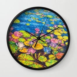 Bright Blue Wall Clock