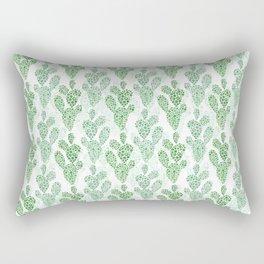 Cool Cacti in Green Rectangular Pillow