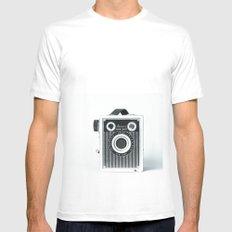 Box Camera Retro - Photographer White Mens Fitted Tee MEDIUM