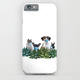 Pets Animals Mouth Nose Mask - Agave Leaves iPhone Case