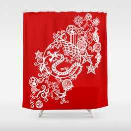 Pieces of China: Day of the Dragon Shower Curtain