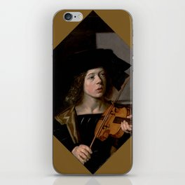 "Frans Hals ""The violinist"" iPhone Skin"