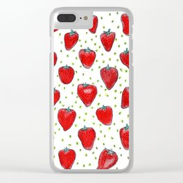 Strawberries Celebration Clear iPhone Case
