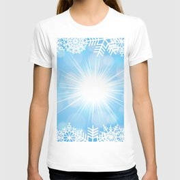 Snowflake frame with background T-shirt