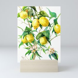 Lemon Tree. lemons kitchen art Mini Art Print