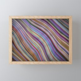 Wild Wavy Lines 20 Framed Mini Art Print