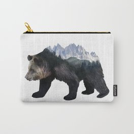 Bear Double Exposure Surreal Wildlife Native Animal Carry-All Pouch