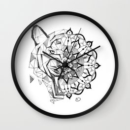 Tiger   Mandala Wall Clock