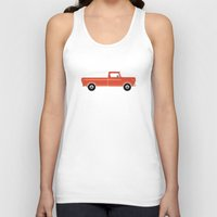 truck Tank Tops featuring Orange Truck by Elephants on Fire